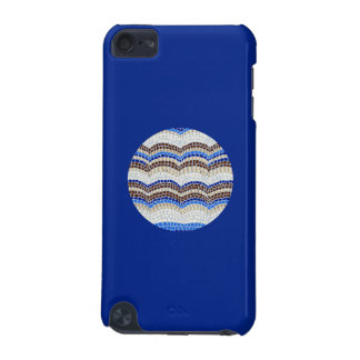 Coque iPod Touch 5G Caisse bleue ronde du contact 5g d'iPod de