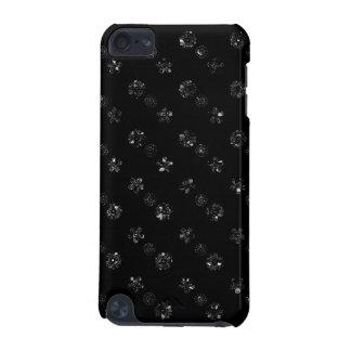 Coque iPod Touch 5G Caisse florale noire de contact d'iPod d'effet de