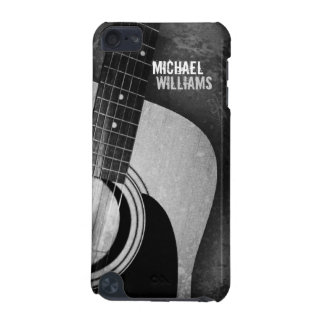 Coque iPod Touch 5G Caisse grunge grise de contact d'iPod de guitare