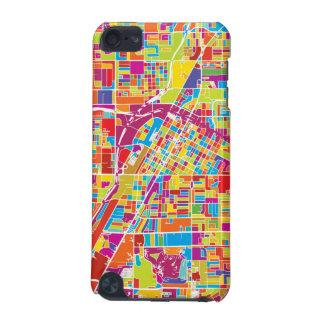 Coque iPod Touch 5G Carte de Las Vegas coloré, Nevada