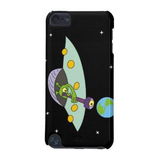 Coque iPod Touch 5G Cas de contact d'iPod drôle d'alien et de terre