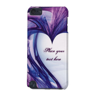 Coque iPod Touch 5G Coeur grunge pourpre