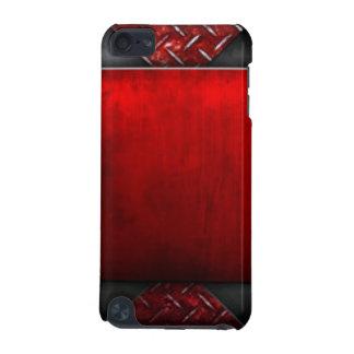 Coque iPod Touch 5G Conception noire rouge d'impression de motif