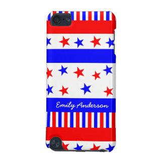 Coque iPod Touch 5G Couleurs de drapeau des Etats-Unis de motif de