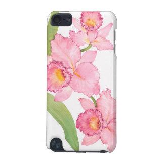 Coque iPod Touch 5G Fleurs exotiques roses d'aquarelle