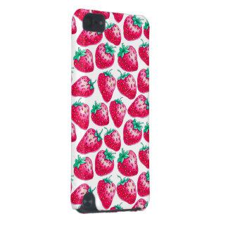 Coque iPod Touch 5G Fraise rose sur l'arrière - plan blanc