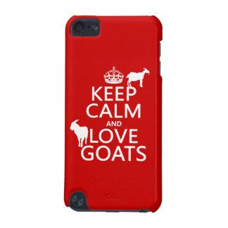 Coque iPod Touch 5G Gardez le calme et aimez les chèvres
