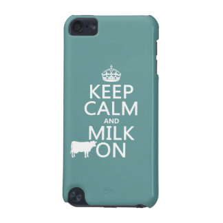 Coque iPod Touch 5G Gardez le calme et trayez sur (les vaches) (dans