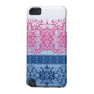 Coque iPod Touch 5G Intricate Fleur De Lis dans le rose et le bleu
