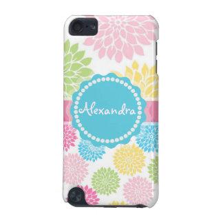 Coque iPod Touch 5G Le rose en pastel, bleu, dahlia jaune fleurit le