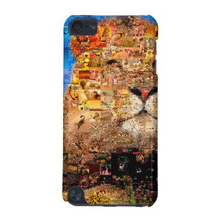 Coque iPod Touch 5G lion - collage de lion - mosaïque de lion - lion