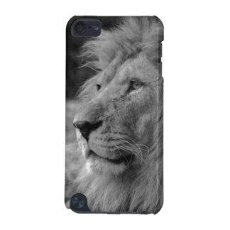 Coque iPod Touch 5G Lion noir et blanc - animal sauvage