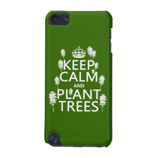 Coque iPod Touch 5G Maintenez les arbres calmes et de plante (toutes