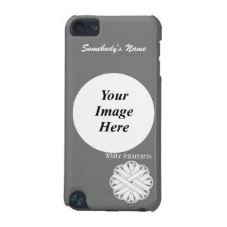 Coque iPod Touch 5G Modèle de ruban de fleur blanche