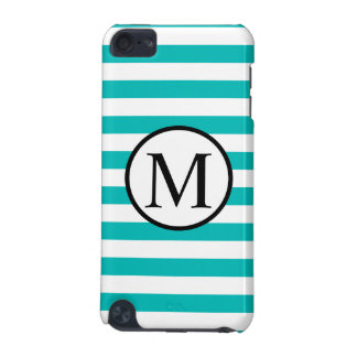 Coque iPod Touch 5G Monogramme simple avec les rayures horizontales