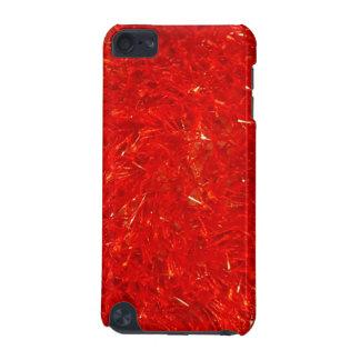 Coque iPod Touch 5G Motif lumineux chic de fête de couleur rouge