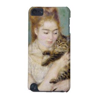 Coque iPod Touch 5G Pierre une femme de Renoir | avec un chat