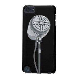 Coque iPod Touch 5G Rétro microphone argenté frais