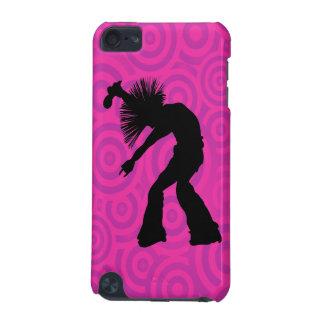 Coque iPod Touch 5G Silhouette de danseur de chanteur sur de rétros