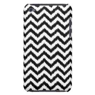 Coque iPod Touch Case-Mate Zigzag de motif de noir d'Ikat Chevron