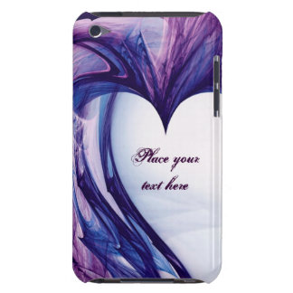 Coque iPod Touch Coeur grunge pourpre