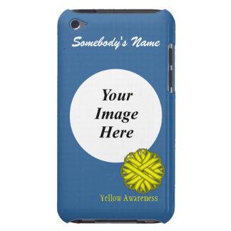 Coque iPod Touch Modèle jaune de ruban de fleur
