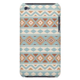 Coque iPod Touch Terres cuites crèmes bleues aztèques de Ptn IIIb