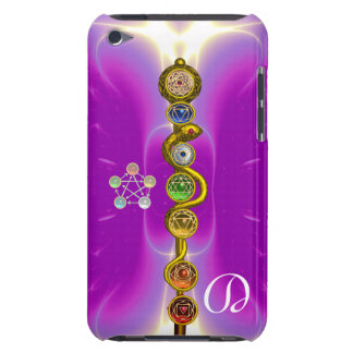 COQUE iPod TOUCH  TIGE D'ASCLEPIUS 7 CHAKRAS, YOGA, ÉNERGIE