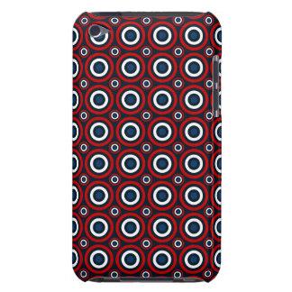 Coque iPod Touch Visez la boudine, la caisse blanche et bleue rouge