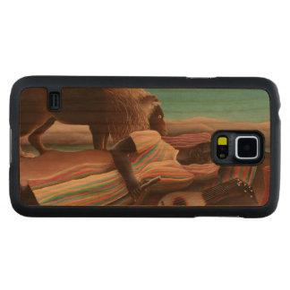 Coque Mince En Cerisier Galaxy S5 Henri Rousseau le cru gitan de sommeil