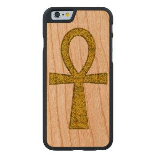 Coque Mince En Cerisier iPhone 6 Ankh jaune