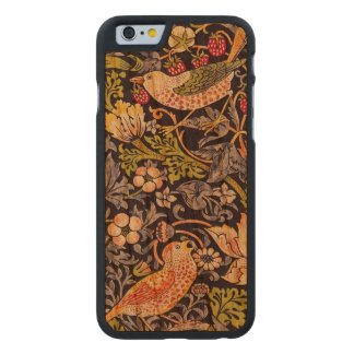 Coque Mince En Cerisier iPhone 6 Art floral Nouveau de voleur de fraise de William