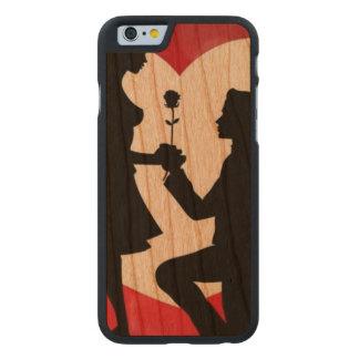 Coque Mince En Cerisier iPhone 6 Cru : Saint-Valentin -