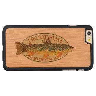 Coque Mince En Cerisier iPhone 6 Plus Pêcheur à la ligne drôle de truite de Brown