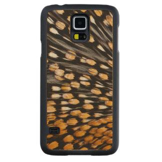 Coque Mince En Érable Galaxy S5 Abrégé sur repéré plume de volaille de jungle