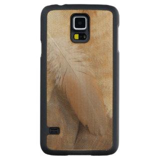 Coque Mince En Érable Galaxy S5 De Brown d'oie de plume toujours la vie