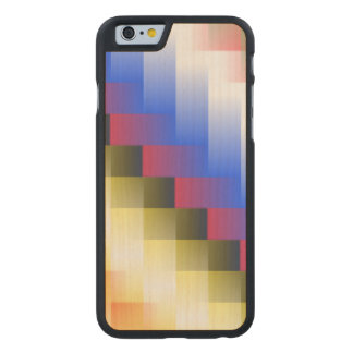 Coque Mince En Érable iPhone 6 Abstraction de couleur