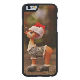 Coque Mince En Érable iPhone 6 Décorations de renne - renne de Noël