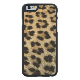 Coque Mince En Érable iPhone 6 Fermez-vous des taches de léopard, Afrique