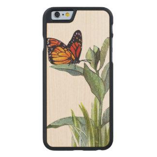 Coque Mince En Érable iPhone 6 Papillon vintage