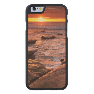 Coque Mince En Érable iPhone 6 Piscines de marée au coucher du soleil, la