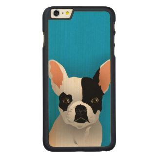 Coque Mince En Érable iPhone 6 Plus Art de bouledogue - bouledogue français