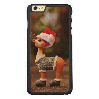 Coque Mince En Érable iPhone 6 Plus Décorations de renne - renne de Noël