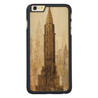 Coque Mince En Érable iPhone 6 Plus Empire State Building NYC