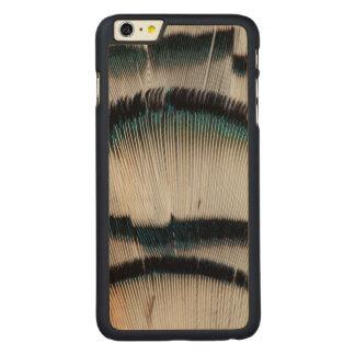 Coque Mince En Érable iPhone 6 Plus Plumes argentées de faisan