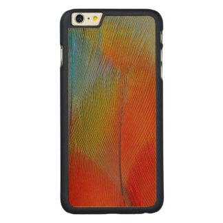 Coque Mince En Érable iPhone 6 Plus Plumes Faucon-Dirigées de perroquet