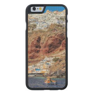 Coque Mince En Érable iPhone 6 Village d'Oia sur l'île de Santorini, du nord,