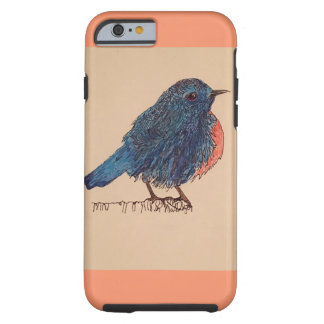 Coque-Oiseau bleu d'iPhone Coque Tough iPhone 6