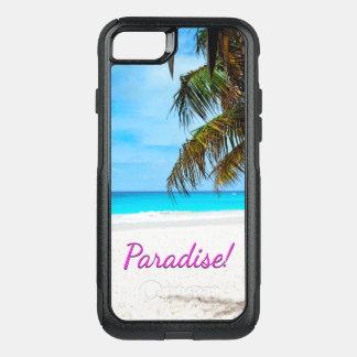 Coque OtterBox Commuter iPhone 8/7 Ciel, plage, palmiers - paradis !