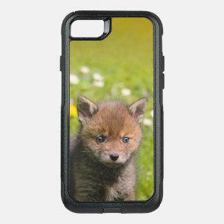 Coque OtterBox Commuter iPhone 8/7 Photo animale de bébé sauvage mignon de Fox rouge
